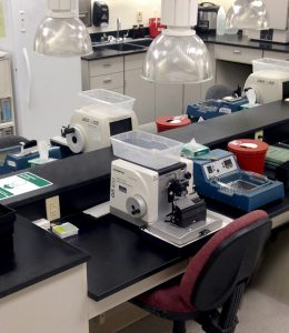 Lab with lots of instruments